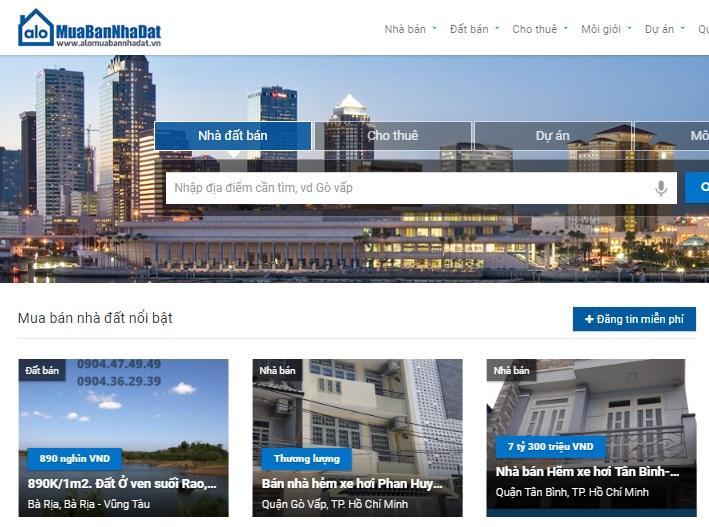 Mua bán nhà đất online