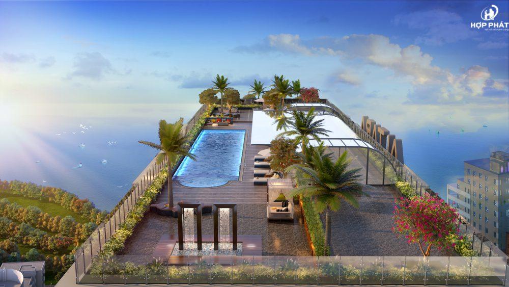 Bể Bơi Ngoài Trời Và Bar Của Altara Quy Nhơn