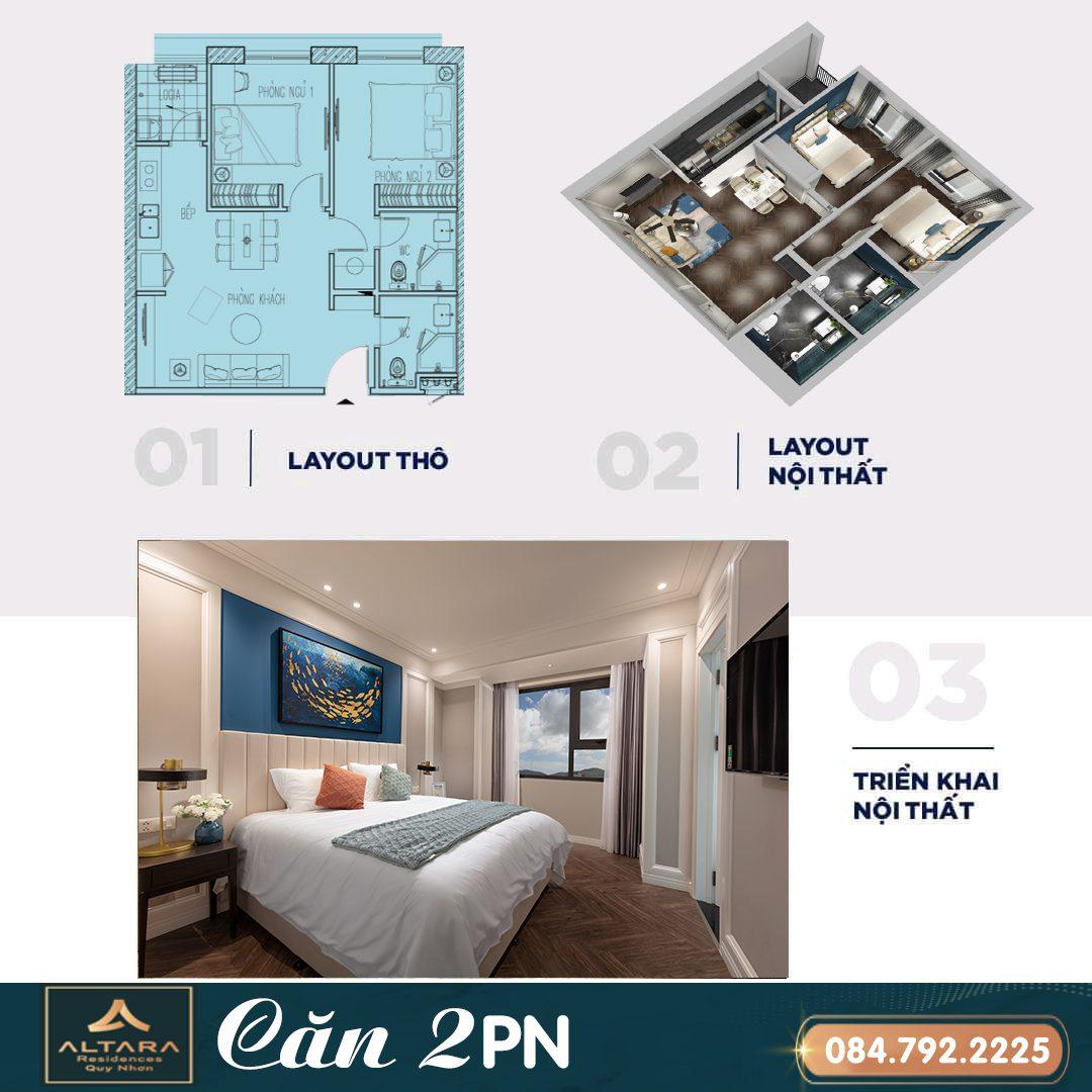 Căn hộ altara 2 phòng ngủ - Giá bán của căn hộ Altara Quy Nhơn