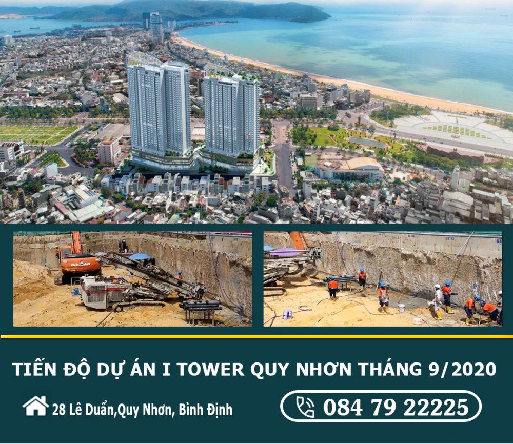 Tiến độ Xây Dựng Dự án I Tower Quy Nhơn Tháng 09 2020