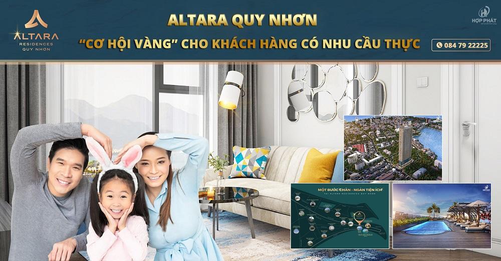 """Altara Quy Nhơn:""""Cơ hội vàng"""" cho khách hàng có nhu cầu thực"""