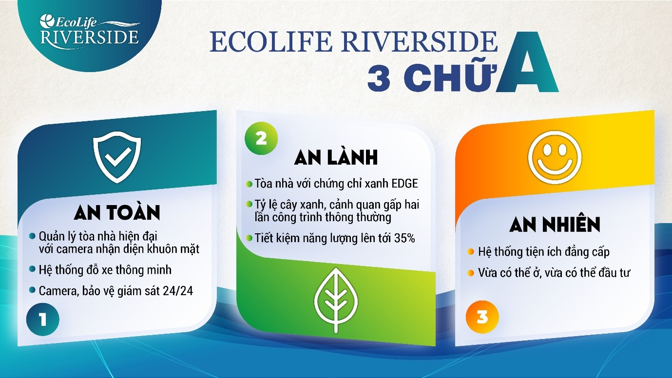 Một cuộc sống mới cho cư dân Ecolife Quy Nhơn với 3 chữ A